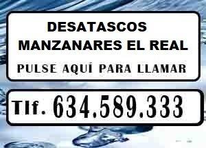 Desatascos Manzanares el Real Urgentes